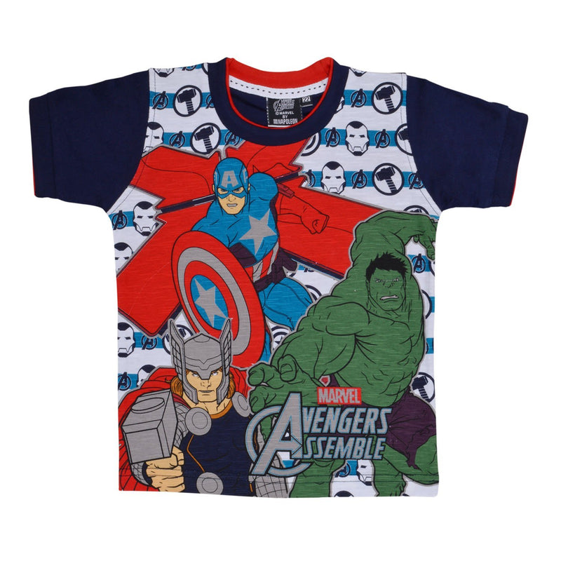 Boys  Marvel Team Tshirt- red -  Wish Karo Dresses