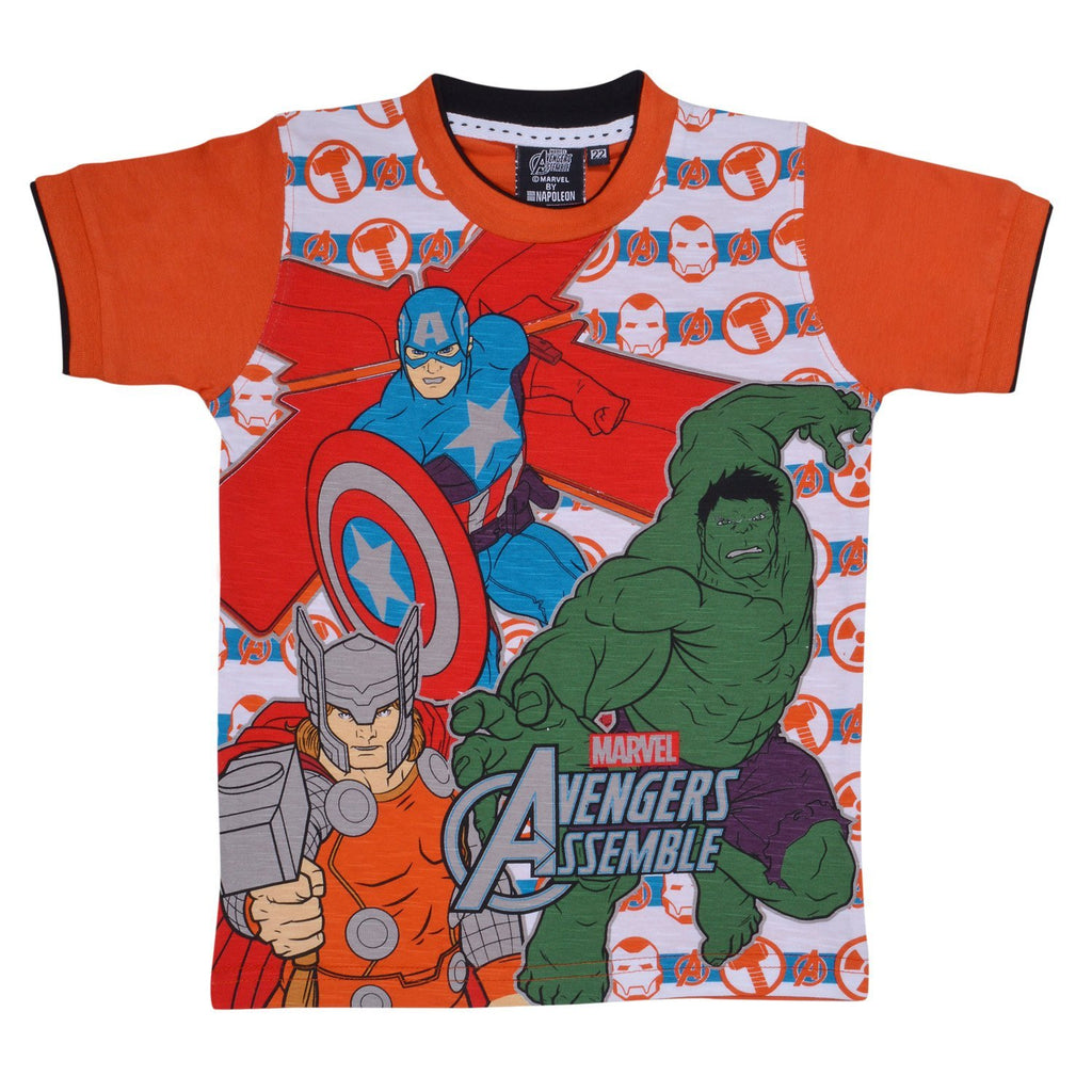 Boys  Marvel Team Tshirt org -  Wish Karo Dresses