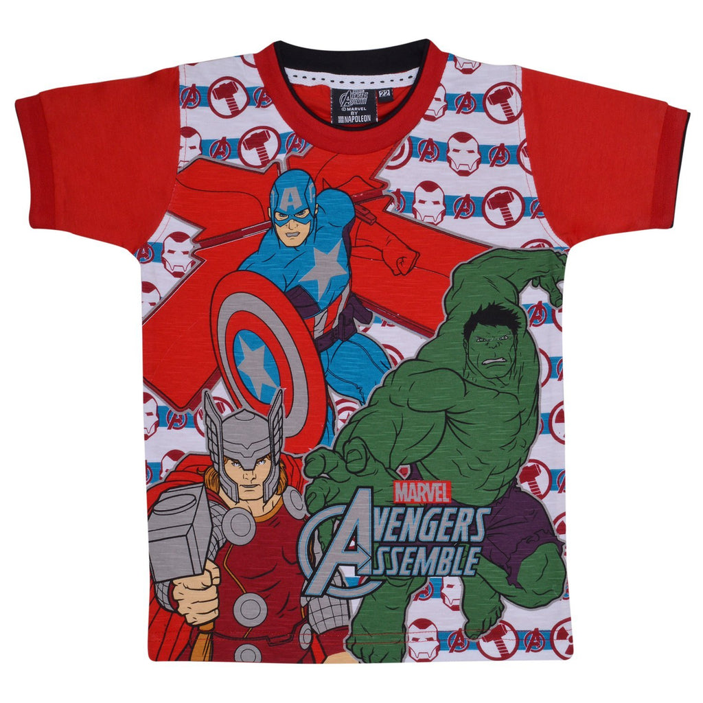 Boys  Marvel Team Tshirt rd -  Wish Karo Dresses