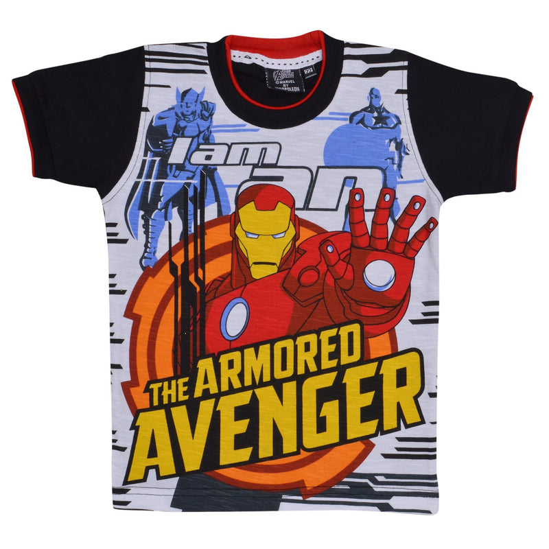 Boys Avangers Tshirt  Black -  Wish Karo Dresses