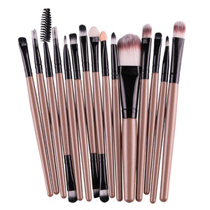 15Pcs/Kit Pinceaux de maquillage professionnels
