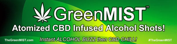 Promotional Banner 8' x 2' for AlcoholMIST, GreenMIST, and Vapshot
