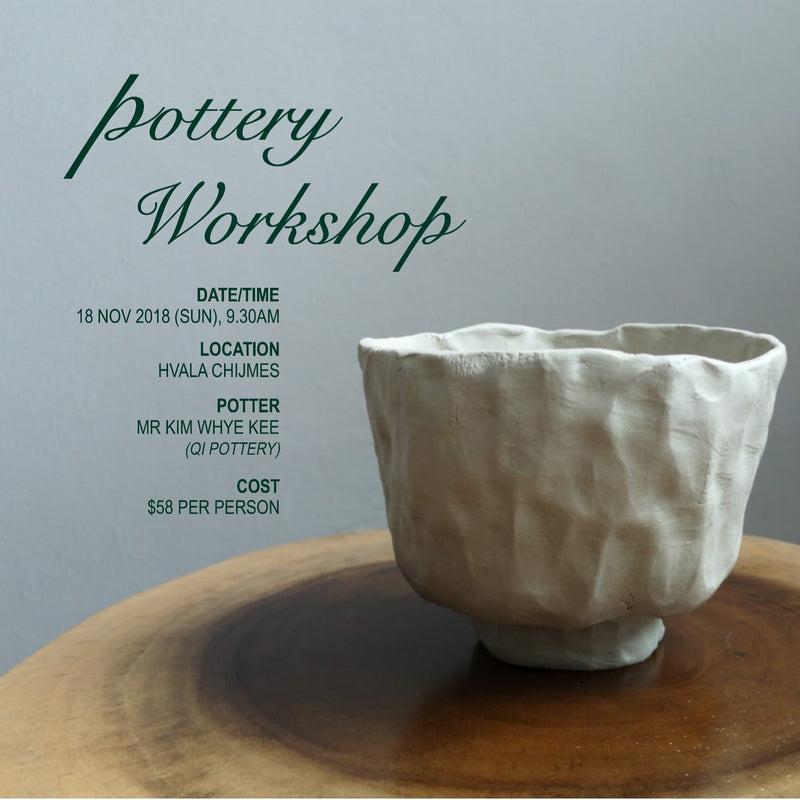 Pottery Workshop - Hand Pinching Chawan (18 Nov 2018)