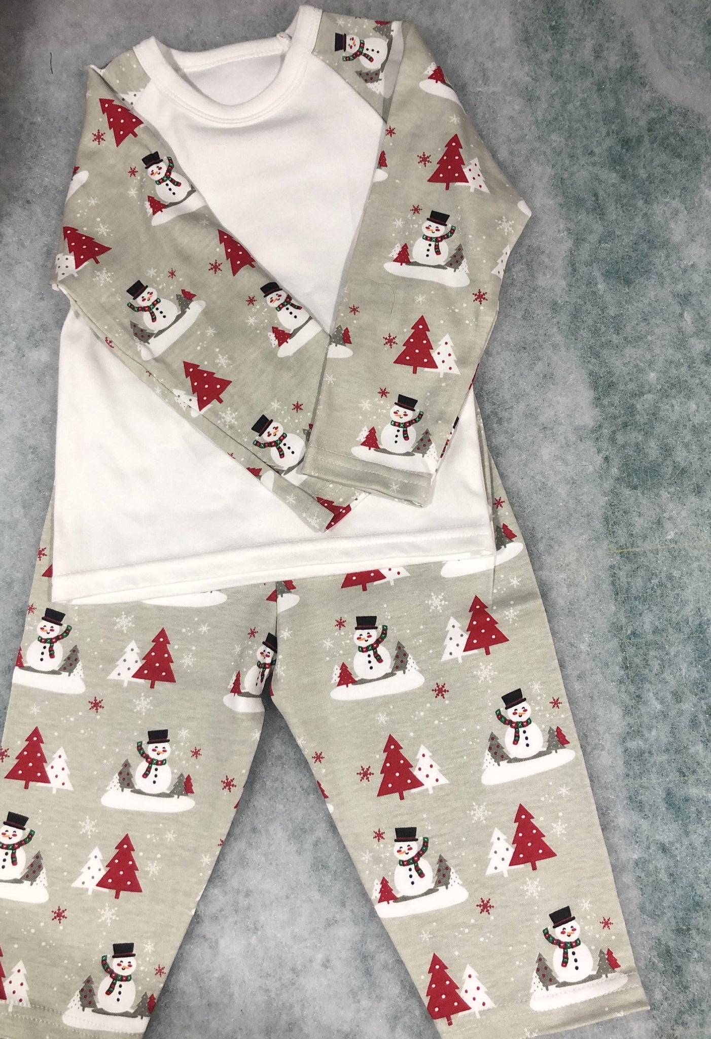 Personalised Snowman Christmas Pyjamas