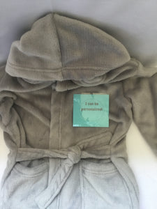 Toddler GREY Soft Hooded Dressing Gown