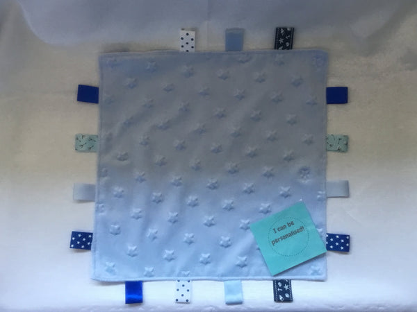Blue Baby Taggie Comforter Blanket Stars