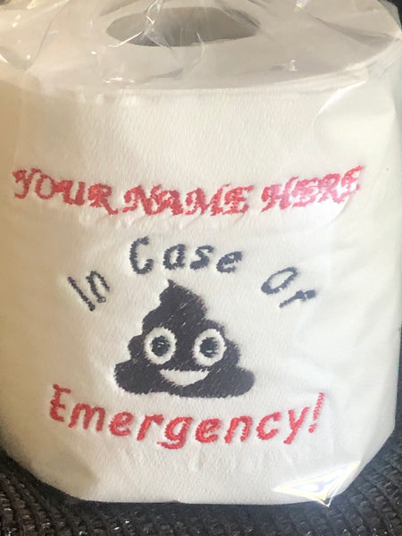 Personalised Loo Roll - In Case of Emergency!