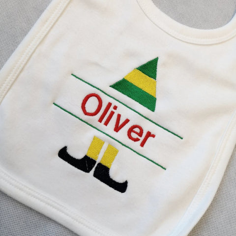 Personalised Christmas Elf bib