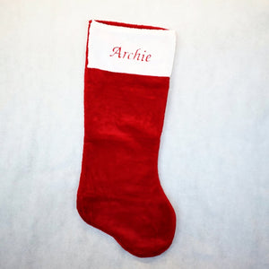 Large Red Christmas Stocking