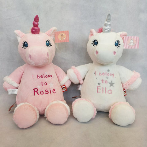 Candyfloss and Marshmallow the Personalised unicorns