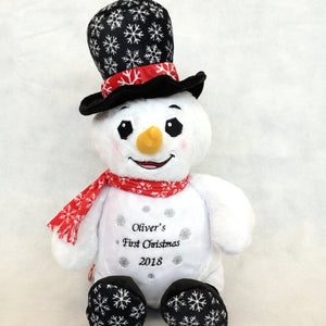 Personalised First Christmas Snowman