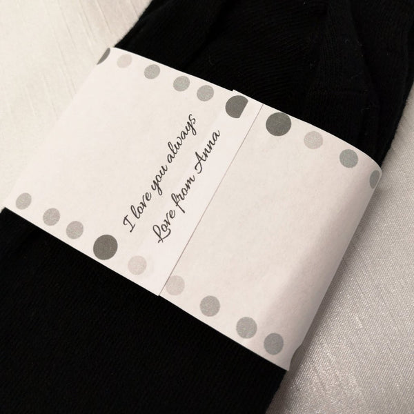 'Incase you get cold feet' Personalised Socks