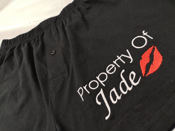 """Property of"" Quirky Mens Boxers"