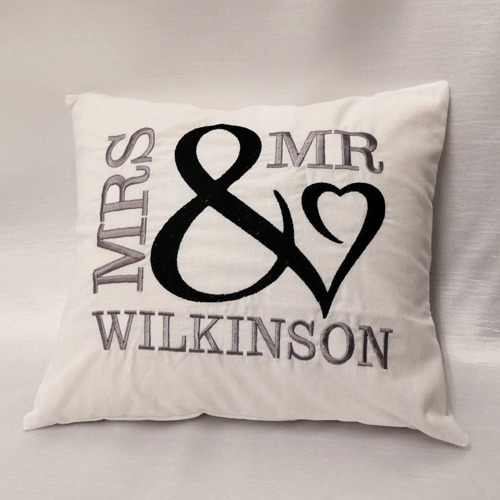 Personalised Married Couple Cushion
