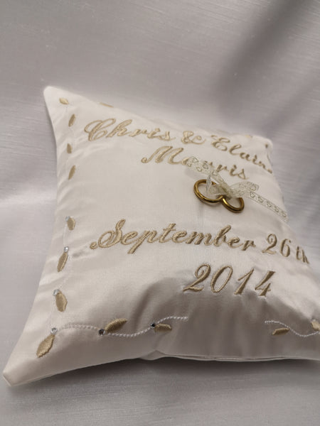 Personalised Diamante Feature Ring Cushion