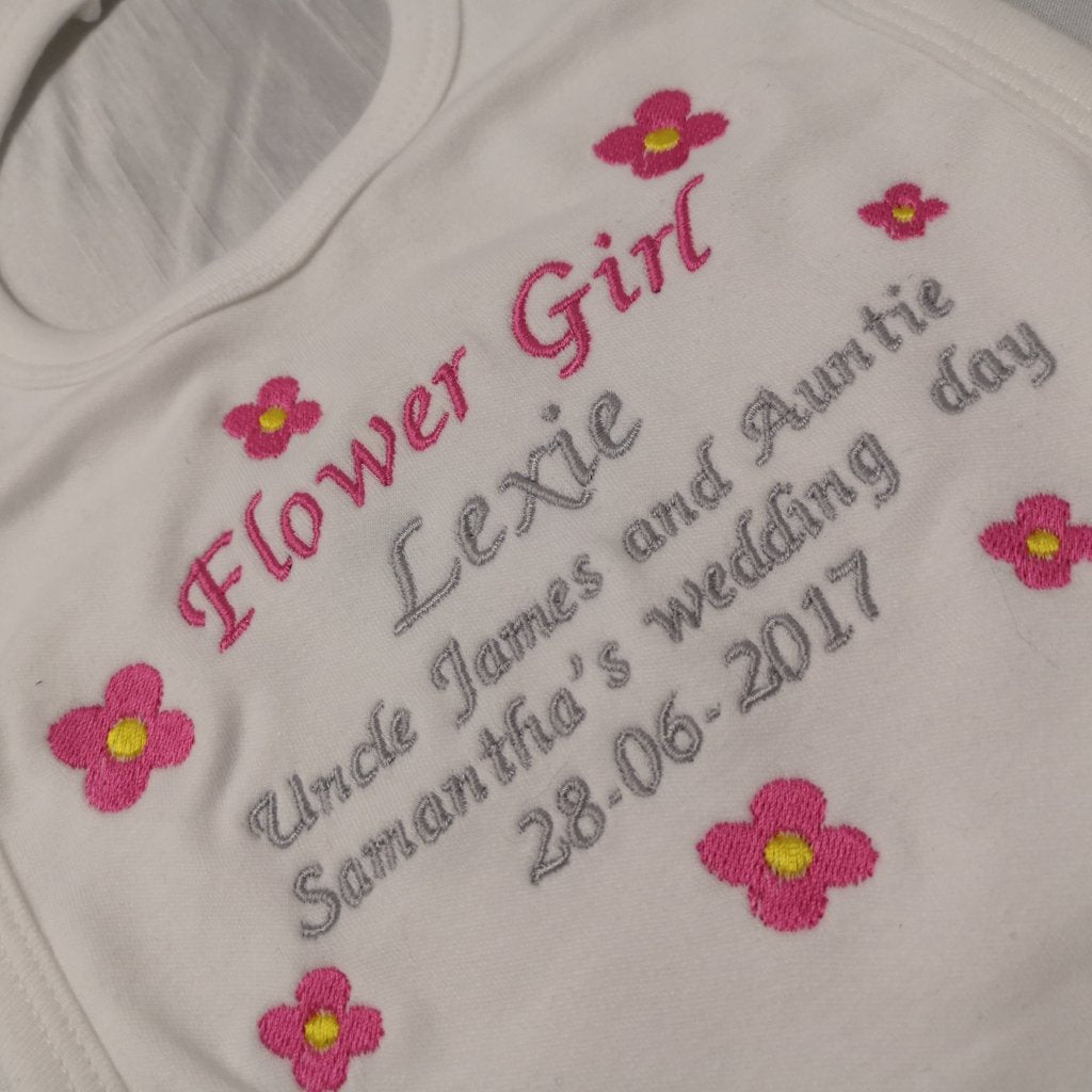 Personalised Flower Girl/Bridesmaid Bib