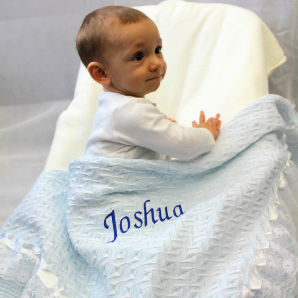 Personalised Baby Blanket Blue