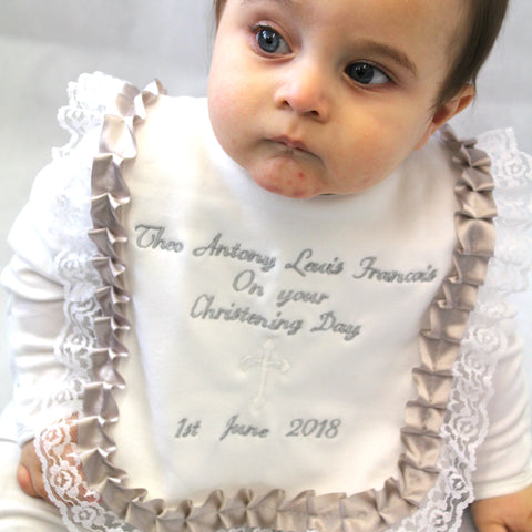 Christening Day Baby Bib