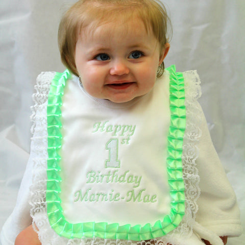 First Birthday Baby Bib