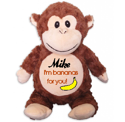 """I'm bananas for you"" Personalised Louie the Monkey"