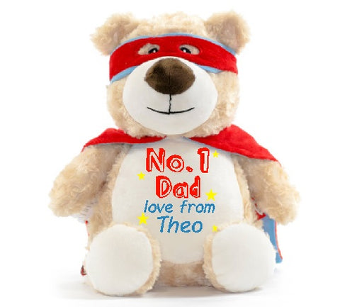 No.1 Dad Captain McStuffins Bear