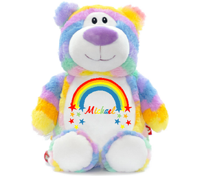 Aurora The Personalised Pastel Rainbow Bear