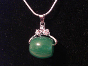 Barrel / Good Health Jade Necklace