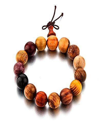 Hot And Bold  Tibetan Wooden Beads Buddha Bracelet for Meditation & Healing Properties. (Woody): Jewelry