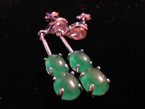 Jade Dangle hook Earrings