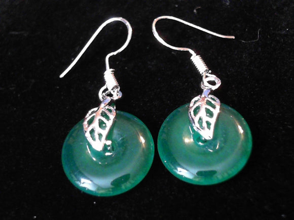 Jade Prosperity hook Earrings
