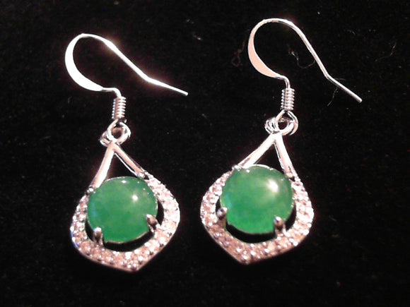 Jade hook Earrings