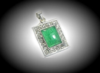 Jade Crystal Pendant Necklace