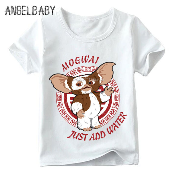 Children Gremlins Gizmo Cartoon Print Funny T shirt Summer Baby Boys/Girls Cute Tops Kids Great Casual Clothes,ooo5170