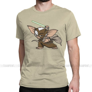 Master Mogwai Gremlins Men T Shirt Gizmo 80s Movie Monster Horror Retro Sci Fi Tees Short Sleeve T-Shirt Cotton Plus Size
