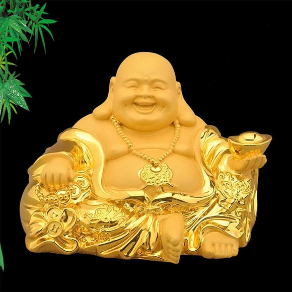 Shajin Maitreya statue, modern art sculpture crafts, resin home decoration accessories,Laughing Buddha car decoration gifts