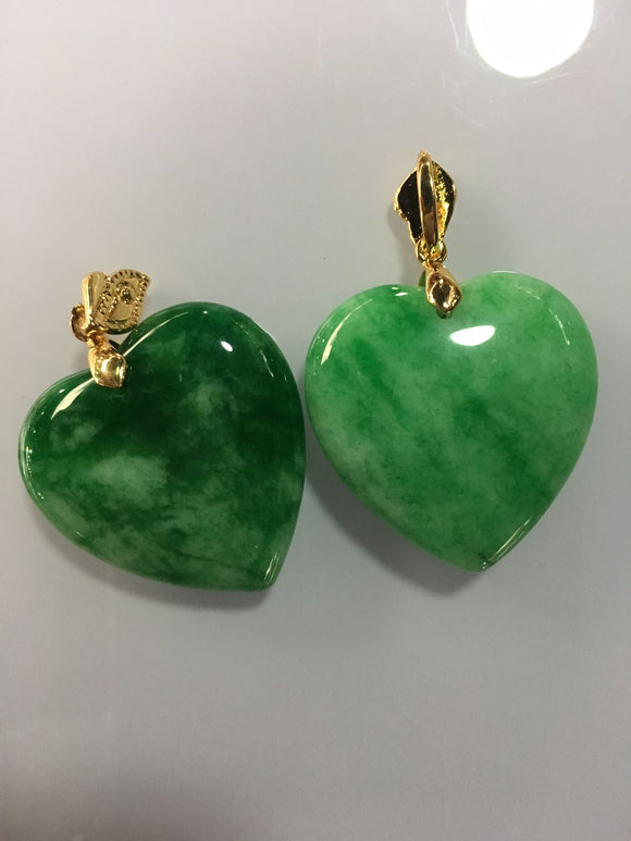 100% Natural green jade pendant necklace with 925 sterling silver heart jade necklace women pendants silver 925 jewelry necklace