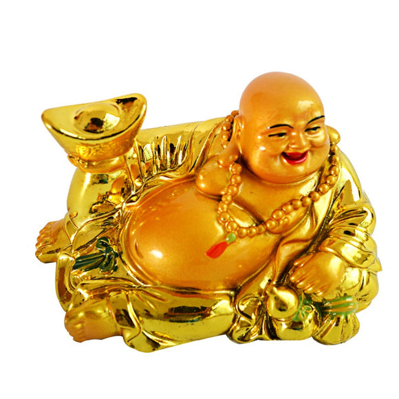 Wealth YuanBao Happy Laughing Maitreya Buddha Statue Statue Feng Shui Figurine AA174 - Lucky Mouse Chinese Gifts