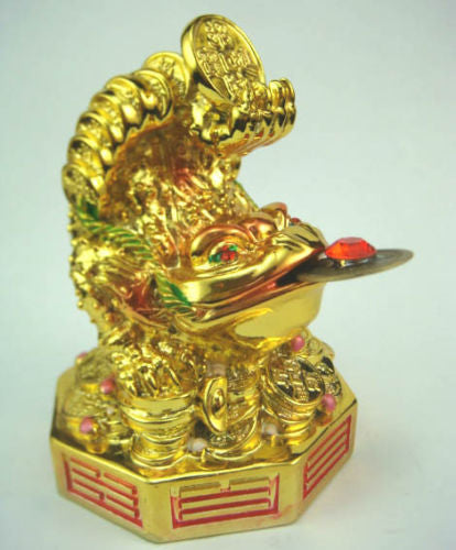 NEW Feng Shui Bagua Three Legged money Toad Frog Wealth Luck D1007 - Lucky Mouse Chinese Gifts