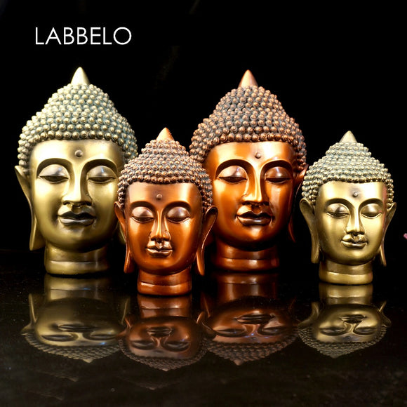 Resin Buddha statue head Buddha decoration ideas first place adorn Buddha sitting room a great crafts home decor - Lucky Mouse Chinese Gifts