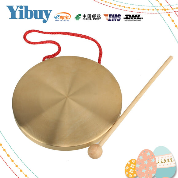 Yibuy Alto Hand Gong Chapel Copper Cymbals Percussion 15.5 Diameter Opera Gong - Lucky Mouse Chinese Gifts