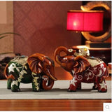 Resin elephant decorative arts and crafts, office desktop decoration products, creative animal statues - Lucky Mouse Chinese Gifts