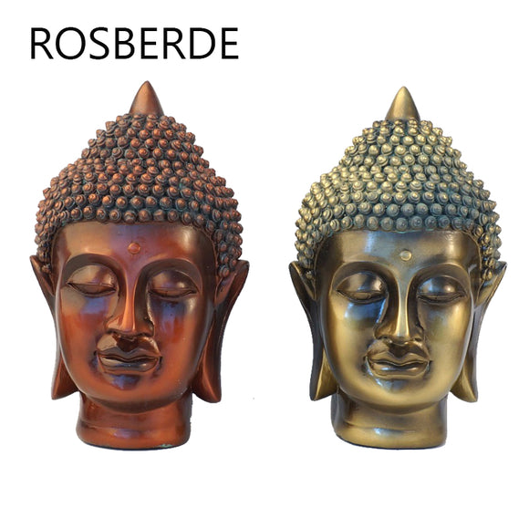 Rosberde Resin India Buddha statue head home decor statue sculpture home garden decoration Yoga Sculpture Living room decoration - Lucky Mouse Chinese Gifts