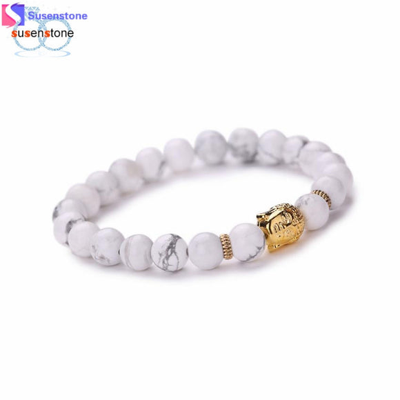 SUSENSTONE Women Men Bracelet Buddha Elastic Beaded Bracelet Chain Charm Bracelets Jewelry - Lucky Mouse Chinese Gifts