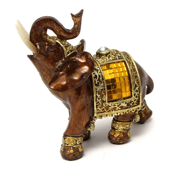 Q-glory Home Decoration Accessories Decorative Figurines Elephant Elephant Statue Resin Souvenir Gifts Miniature Garden Figures - Lucky Mouse Chinese Gifts