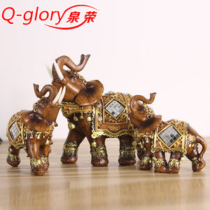 Q-glory Resin Home Decor Figurines Elephant Statues Home Decoration Accessories Lucky Elephant Holiday Gifts - Lucky Mouse Chinese Gifts