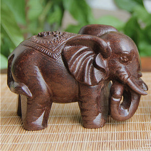 Wooden Carving Boutique Decor Blessing Buddha Elephant Arts And Crafts Statue Home Decoration Lucky Gifts 3 Types - Lucky Mouse Chinese Gifts