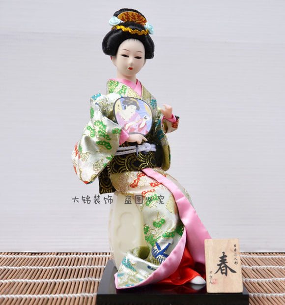 Japanese Japanese Geisha kimono doll doll decor decoration crafts Home Furnishing restaurant decoration by paragraph - Lucky Mouse Chinese Gifts