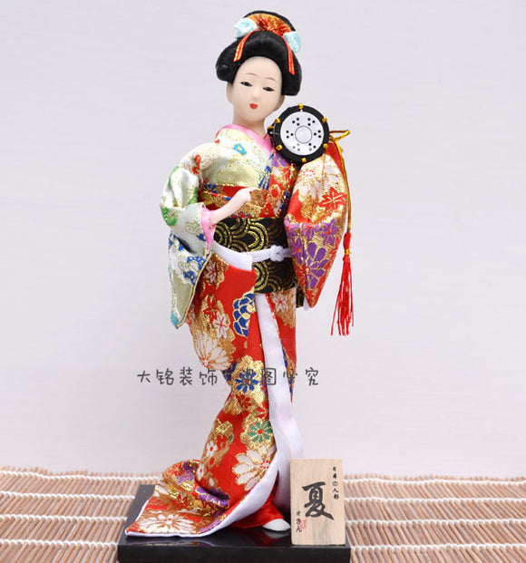Japanese Geisha Doll Figure Japanese decorative dolls. - Lucky Mouse Chinese Gifts