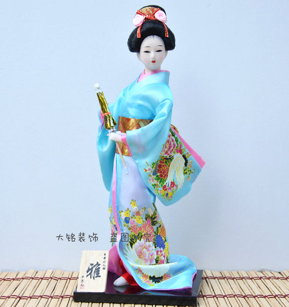 Japanese craft doll Japanese humanoid Japanese doll Japanese Geisha 12 inches y64 - Lucky Mouse Chinese Gifts