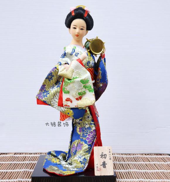 Japanese Geisha doll, Japan 12 inch, Japanese woman dolls, handmade silk A06 - Lucky Mouse Chinese Gifts
